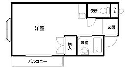 フジコーマンション小松里[103号室]の間取り