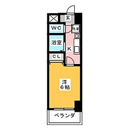 プレサンス名古屋STATIONビーフレックス[11階]の間取り