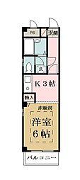 埼玉県八潮市大字伊草の賃貸マンションの間取り
