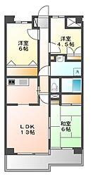 ベイサイドマンションブルースカイ[2階]の間取り