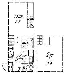 Stage 名駅[2階]の間取り