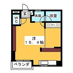 愛知県名古屋市西区名西1の賃貸マンションの間取り