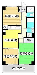 クレストコート・ヒルズ[5階]の間取り