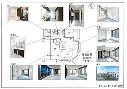 上品な新装、パノラマビュー悠々たる隅田川 スカイライトタワー[26階]の間取り