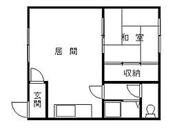 土門コーポ[2階]の間取り