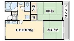 佐野湊団地1号棟[1102号室]の間取り