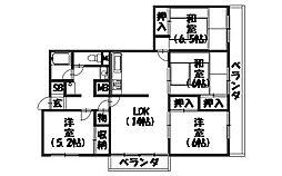 長岡京スカイハイツ[507号室]の間取り