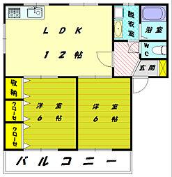 コンフレール松崎[2階]の間取り