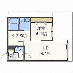 北海道札幌市東区北十二条東2丁目の賃貸マンションの間取り