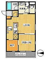 コンフォートシティ[3A号室]の間取り