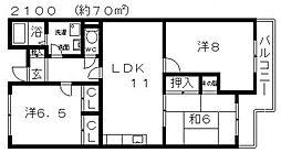 セジュール[306号室号室]の間取り