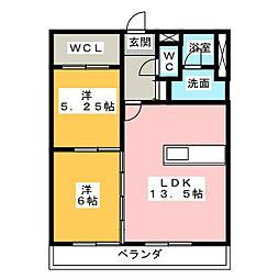 第2フェアモント[4階]の間取り