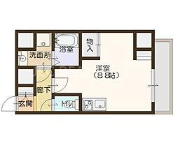 エスパシオ・コモド大阪新町[403号室]の間取り