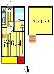 プルメリアール[2階]の間取り