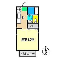 ネオハイツ薊野[2階]の間取り