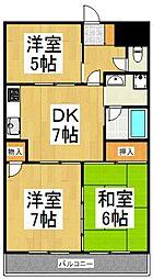 レグルスマンション[4階]の間取り