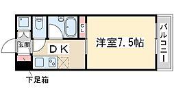 Osaka Metro御堂筋線 新大阪駅 徒歩18分の賃貸マンション 5階1DKの間取り