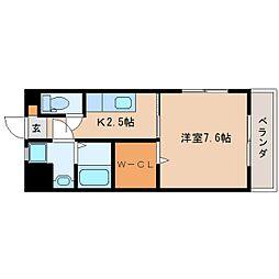 JR東海道本線 静岡駅 徒歩20分の賃貸マンション 3階1Kの間取り