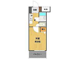 ローズコーポ阪神尼崎[9階]の間取り