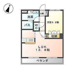 神奈川県綾瀬市深谷中5丁目の賃貸マンションの間取り