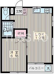 東京都中野区上鷺宮3丁目の賃貸マンションの間取り