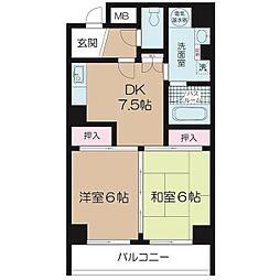 コープ野村東伏見[6階]の間取り