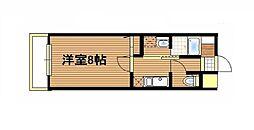 レグルス日本橋 8階1Kの間取り
