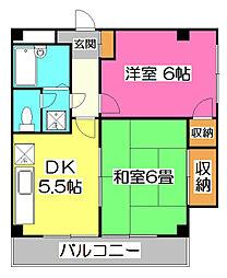 メゾンムサシ[3階]の間取り