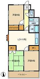 マロンハイツ1 205[2階]の間取り