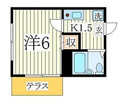 イーストフォーラムI[1階]の間取り