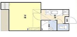 東京都江戸川区瑞江2丁目の賃貸アパートの間取り