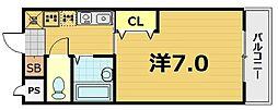 スターボード28[103号室]の間取り