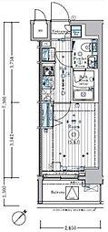 リライア横濱関内[3階]の間取り