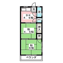 八代コ−ポラス[2階]の間取り