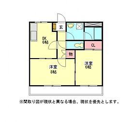 愛知県一宮市篭屋4丁目の賃貸アパートの間取り
