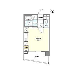 JR京葉線 八丁堀駅 徒歩5分の賃貸マンション 5階ワンルームの間取り