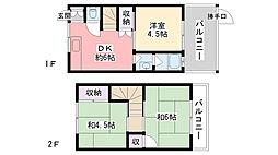 [一戸建] 兵庫県西宮市東鳴尾町1丁目 の賃貸【/】の間取り