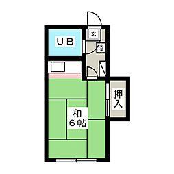 中野アパート[2階]の間取り