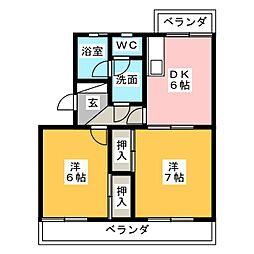 ラフォーレ小石川[1階]の間取り