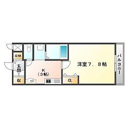 兵庫県神戸市垂水区平磯2丁目の賃貸アパートの間取り