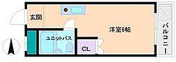 ドミール長居[2階]の間取り