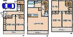 [一戸建] 兵庫県神戸市中央区山本通4丁目 の賃貸【/】の間取り