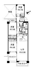 テラス本八幡[6階]の間取り