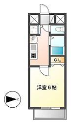 プレサンス名古屋STATIONビーフレックス[9階]の間取り