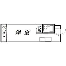 静岡県浜松市中区浅田町の賃貸アパートの間取り