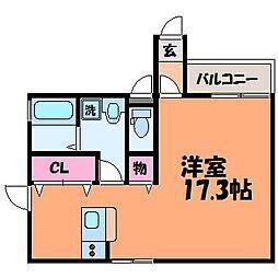 愛媛県松山市歩行町2丁目の賃貸マンションの間取り