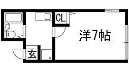兵庫県宝塚市高司3丁目の賃貸アパートの間取り