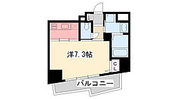 アベニュー甲子園口[603号室]の間取り