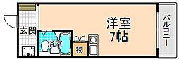 兵庫県伊丹市稲野町7丁目の賃貸マンションの間取り