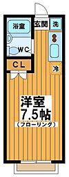 東京都中野区南台5丁目の賃貸アパートの間取り